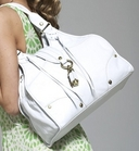 Francesco Biasia-SHoulder Tote in White